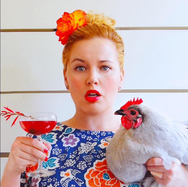 Drinking with Chickens