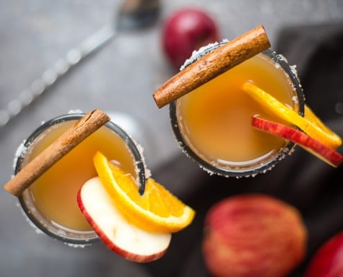 Bourbon Spiked Hot Apple Cider